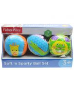 Fisher Price 3 Pack Soft and Sporty Ball Set