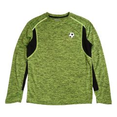 Football Sports Dye Long Sleeve Top Green