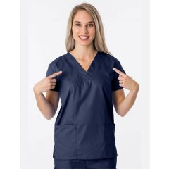 Green Town Classix Collection Unisex Scrub Top Navy