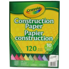 Crayola Construction Paper Pad 120 Sheets