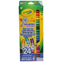 Crayola Pip Squeaks Skinnies Thin Tip Washable Markers 24 Pk