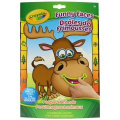 Crayola Funny Faces Coloring and Sticker Book
