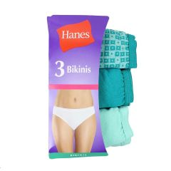 Hanes Bikini Panties Green 3Pk Medium