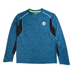 Football Sports Dye Long Sleeve Top Blue