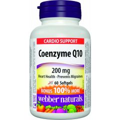 Webber Naturals Coenzxyme Q10 200 mg - Cardio Support