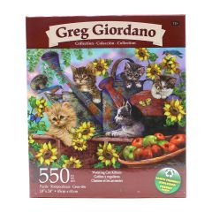 Greg Giordano Collection Watering Can Kittens 550 Piece Puzzle