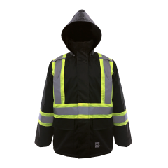 Open Road® Hooded Rain Jacket Black Medium
