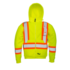 Viking® Safety Fleece Hoodie Yellow Large