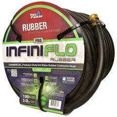 Ray Padula InfiniFlo Rubber Industrial PRO Series Rubber Garden Hose 5/8 in. x 100 ft.