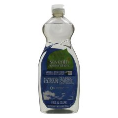 Seventh Generation Natural Dish Liquid Free & Clear 739ml