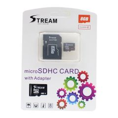 Stream Micro SDHC Card with Adapter 8GB
