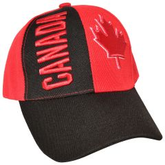 Canada Red and Black Maple Leaf Cap