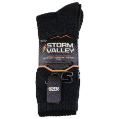 Storm Valley Men's Performance Socks 4 Pack Black