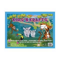 Kids' N Krafts Assorted Construction Paper 100 Sheets