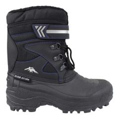 Arctic Ridge Lace Up Velcro Winter Boots Black