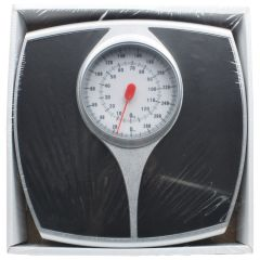 Black Bathroom Weighing Scale Large Numbers White Background
