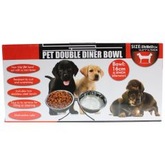 Pet Double Dinner Bowl