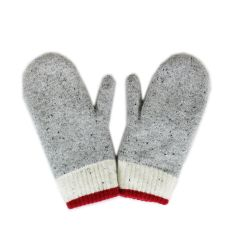Fits Womens Wool Mitten Grey One Size