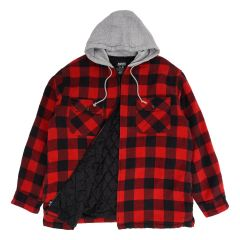 Azur Hooded Quilted Flannel Shirt