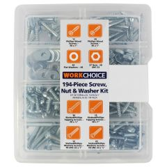 Work Choice Nuts & Washers Kit 194Pc