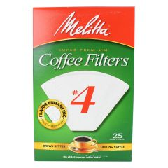 Melitta #4 Super Premium Cone Coffee Filters 25 Pieces