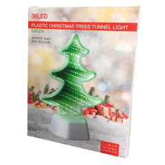 Plastic Christmas Tree Tunnel White Light 36 LED