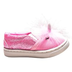 Blue Suede Shoes 3D Unicorn Sneakers Pink