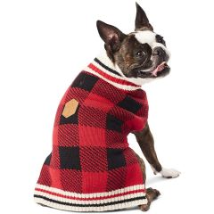 Hotel Doggy Buffalo Check Sweater Red