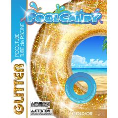 Pool Candy Glitter Pool Tube Gold 36in