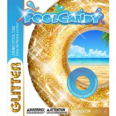 Pool Candy Glitter Pool Tube Gold 48in