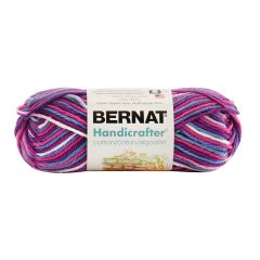 Bernat Handicrafter Cotton Ombre Yarn 40g Purple Perk