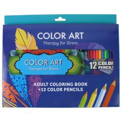 Color Art Therapy for Stress - Adult Coloring Book Set 3 Pk