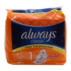 Always Classic With Wings Standard 10 Count