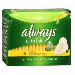 Always Ultra Thin Pad Regular 18 Pack