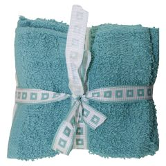 Anya Collection Cotton Face Cloth 12Pk Aqua