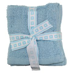 Anya Collection Cotton Face Cloth 12Pk Blue