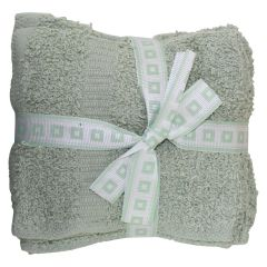 Anya Collection Cotton Face Cloth 12Pk Green