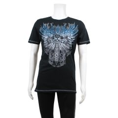 FreDNM Men's Short Sleeve Print T-Shirt Wings