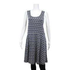 Guilty Plus Size Diamond Skater Dress Blue