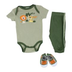 Baby Mode Wild At Heart 3 Piece Set Green