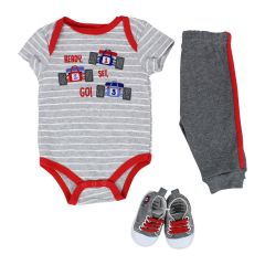 Baby Mode Ready Set Go 3 Piece Set Red