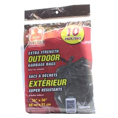 Tuff Guy  Outdoor Bags  26Inch x 36Inch Black 10 Package