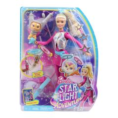 Barbie Star Light Adventure Galaxy Barbie and Flying Space Cat