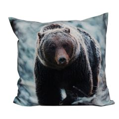 Velvet Cushion Bear