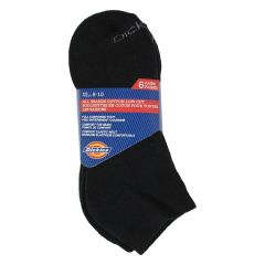 Dickies All Season Low Cut Cotton Socks 6Pk Size 8-10