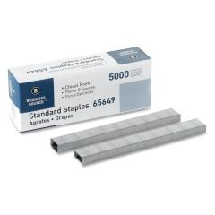 Business Source Chisel Point Standard Staples Box of 5000 Staples