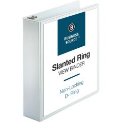 Business Source D Ring Binder 2 Inch White