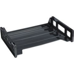Business Source Stacking Side Load Letter Tray Black