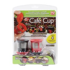 Cafe Cup Reuseable K-Cup Single Cup Pod 4-count