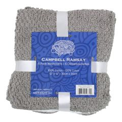Campbell Ramsay Cotton Washcloth 6Pk Grey
